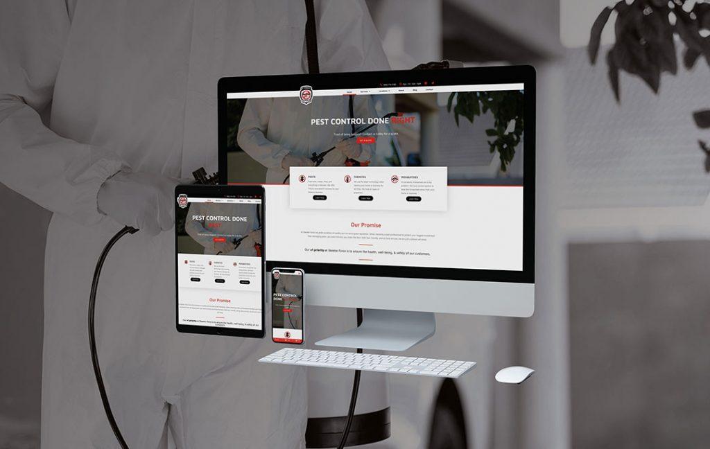 Skeeter Force, LLC Website Design by Kates Digital Marketing